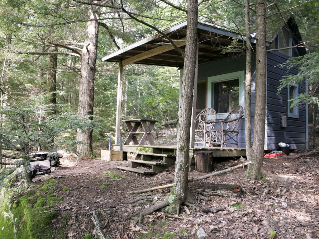 'A Place in the Woods' - Cabin on Chloe's Lake on 20 acres near Woodstock,  NY - Woodstock