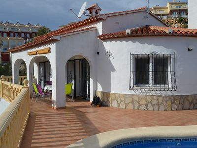 Photo for Villa with 3 bedrooms, 2 bathrooms, air conditioning and pool on Monte Solana