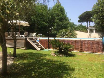 Photo for Very spacious villa in Tuscany with large garden. Beach and golf course within walking distance