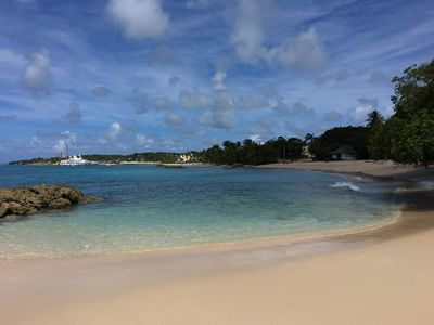 Photo for Luxury one bed apartment at Port St Charles Marina, with views of the Caribbean