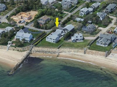 Directly on Nantucket Sound, 300' of Private Beach to right