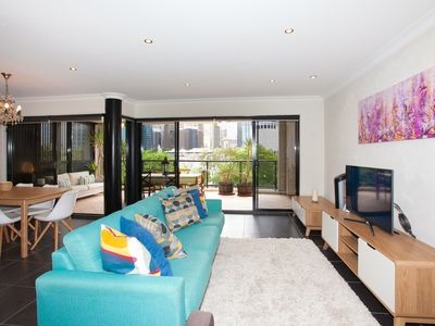 Photo for Three Bedroom Unit with Direct City Views, Pool, Spa, Gym, Parking for Two Cars