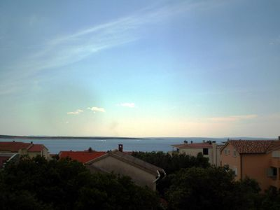 Photo for Two bedroom apartment with terrace and sea view Mandre, Pag (A-6582-b)