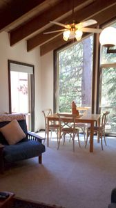 Photo for Well Located, Cozy, Quiet 2-bed + Loft, 1 1/2 bath Golf/ski Condo. Tahoe Donner.