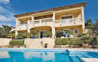 Photo for Beautiful oriental villa with view of the golf course on the hills of Sainte Maxime
