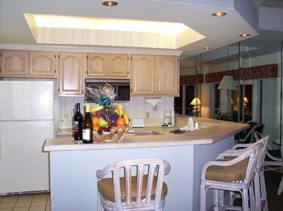 Kitchen  Area with Barstools