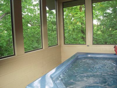 Photo for Private Cabin w/Screened in Hot Tub! Check specials