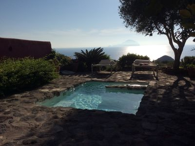 Photo for La Vigna, pearl of the Aeolian islands with private pool and panoramic terrace