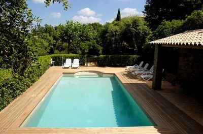 beautiful private pool, with bbq and bar area