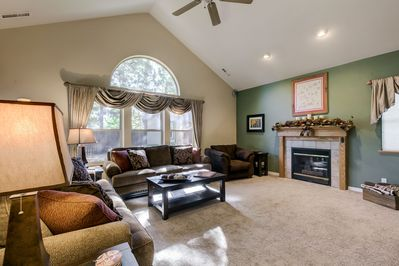 Warm and comfy family room
