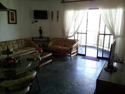 Photo for Excellent Complete Apartment -30m from the beach - Asturias Guarujá - sleeps 8