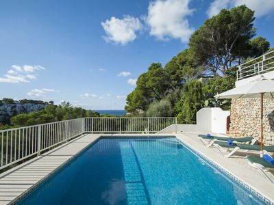 Photo for Apartment with private pool, views and very close to the beach of Cala Galdana