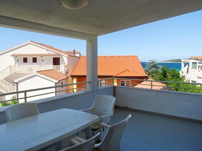 Photo for Two bedroom apartment with terrace and sea view Rogoznica (A-4244-a)