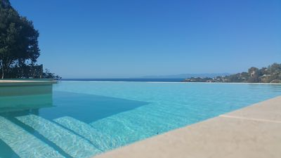 Photo for Beautiful Villa in South Sardinia with large infinity pool & wonderful sea views