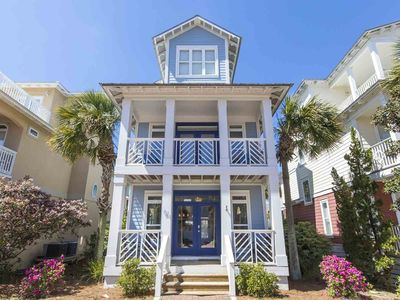 Photo for New Listing! Charming Private Home in Seacrest Beach. 4 Bikes Included! Short Walk to Beach! Extra Large Lagoon Pool!