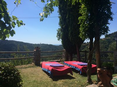Photo for Perfect location on the Tuscan hills with views until the sea