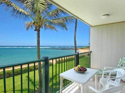 Photo for Beachfront On Kauai's Beautiful Coconut Coast!