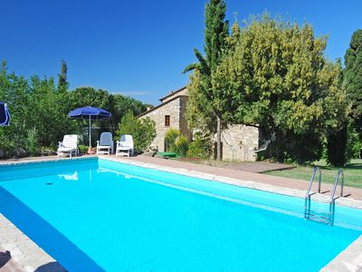Photo for Stone house with private pool near Volterra, ideal for exploring Tuscany