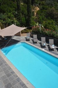 Photo for Villa (+ swimming pool) renovated in 2011  in a peaceful greendistrict, sea view