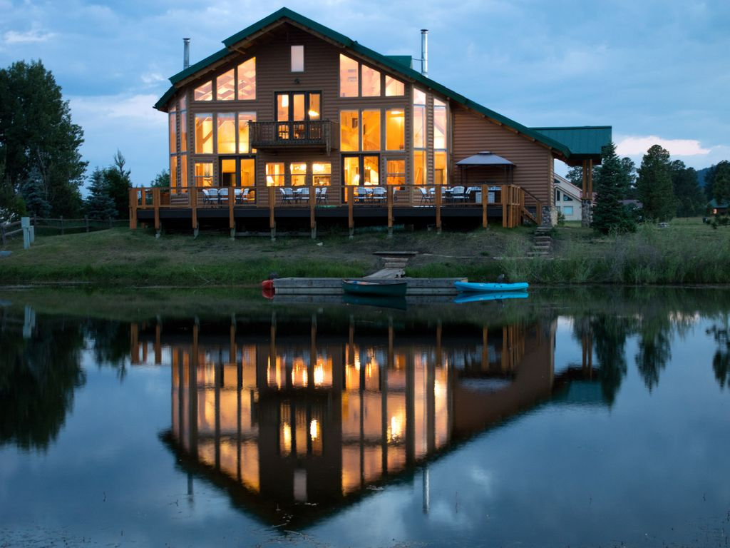 Large Lake Front W Dock And Mountain Views Homeaway