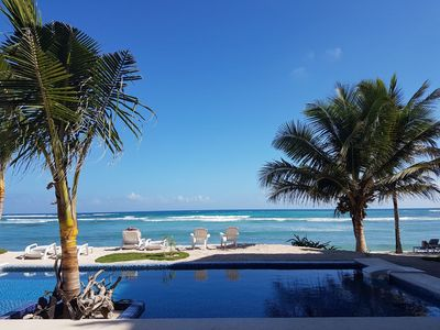 Photo for LAST MINUTE DEALS! LUXURY OCEANFRONT WITH POOL! WALK TO  RESTAURANTS! SNORKEL