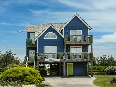 Photo for OBXcape: Oceanside, community pool and tennis courts, 4 bedrooms.