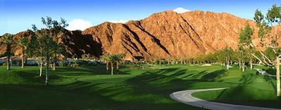 View down the 4th Fairway and to the awe inspiring mountains!