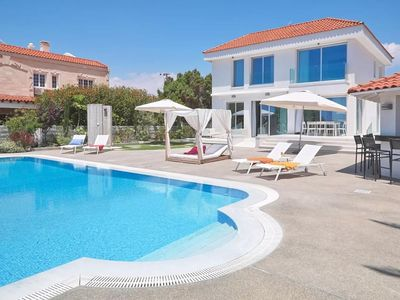Photo for Amazing 4 Bedroom, 2 Storey Villa with A/C, Private Pool only 70 meters from the Beach!