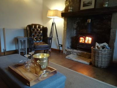 such a warm and cosy sitting room