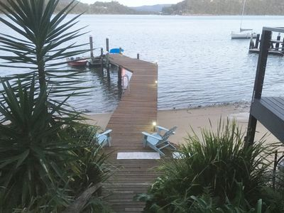 Photo for ALLAWAH . arrive by boat . HAWKESBURY RIVER . Sandy Beach. Kayaks. Private Jetty