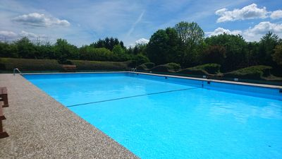Photo for Ferienhaus Eifel near Freilinger See with outdoor swimming pool Tennis courts Minigolf