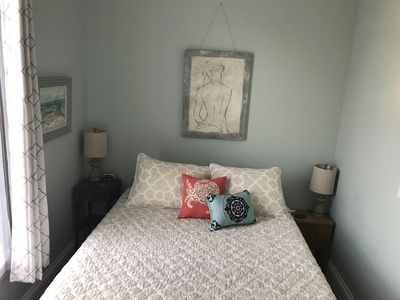Bedroom with new (2017) queen sized bed.