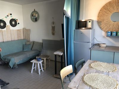 Photo for feet in the water for this charming studio, located between the beach and Camrgue