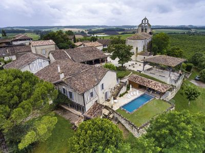 Photo for 12th Century, fully renovated luxury hill top village house, with swimming pool