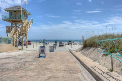 Drive your car across the street onto the drive-on beach within minutes!