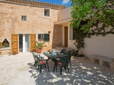 Photo for Luxury villa 'Son Coves Petit', pool, terraces, patio, AirC., Close to Es Trenc, WiFi