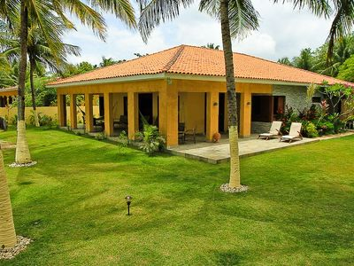 Photo for Beautiful and spacious beachfront home on the Brazilian Caribbean!
