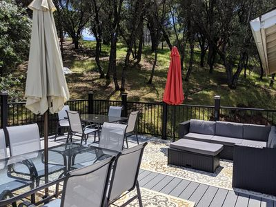 Photo for Great for families, Free Wi-FI, Game Room, large deck. near Yosemite