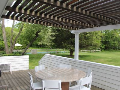 Photo for Hamptons  Rental - Beautiful Private Setting with a  Pool and Tennis Court.