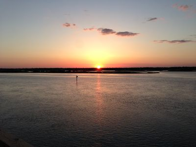 Summer sunset from the deck... Imagine yourself here with a glass of wine!