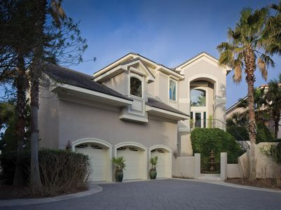 Photo for The Dunes - Luxe Oceanfront 4B w/ Private Pool & Hot Tub,  Elevator, 3 Car Garage & Game Rm