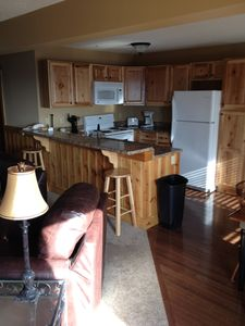 Large fully equipted kitchen.