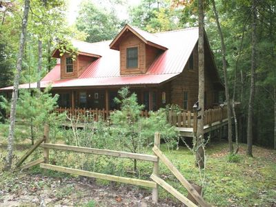 Photo for Holly Patch Cabin: Mountain Log Cabin with Hot Tub
