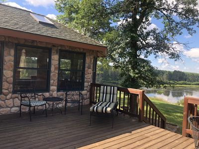 Photo for Log cabin, private setting in the heart of Northern Minnesota vacation get away!
