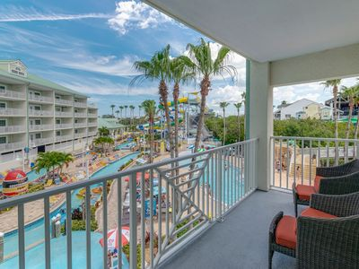 Photo for NEW WATERFRONT RARE 2 BALCONY 2 BDRM 2 BATH, SLEEPS 8 4 DAILY WATER PARK PASSES