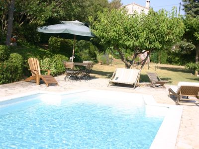 Photo for House with large garden and swimming pool in the heart of the provencal countryside.