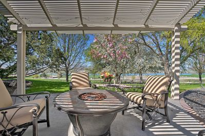 Enjoy beautiful surroundings as you gather around the fire pit.