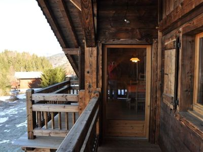 Photo for Apartment 100 m2 of a chalet with 2 balconies, 5 min from the slopes, garden