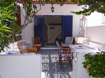 Photo for One-room cottage at the beach of Panarea, with delicious patio and sea view
