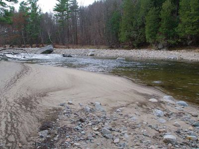 Private beach on the AuSable River
